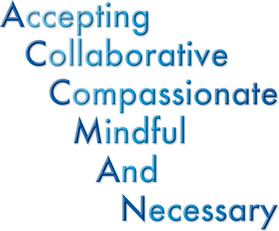 AccMan Acronym - Accepting, Collaborative, Compassionate, Mindful, And, Necessary